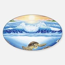 turtles world large Sticker (Oval)