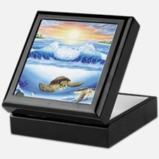 turtles world large Keepsake Box