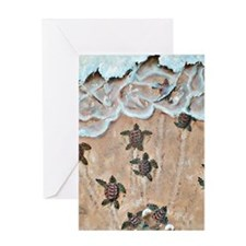 Race To The Sea  Greeting Card