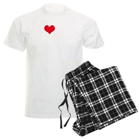 4-I-Love-My-Chihuahua-dark Men's Light Pajamas