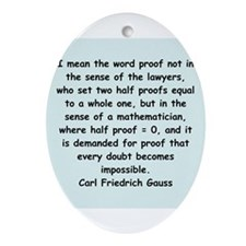 gauss3.png Ornament (Oval)