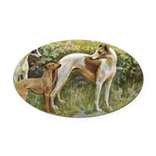 1Greyhounds Oval Car Magnet