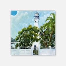 "Key West Light square copy Square Sticker 3"" x 3"""