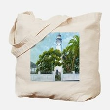 Key West Light square copy Tote Bag