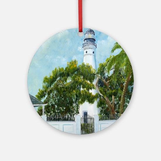 Key West Light square copy Round Ornament