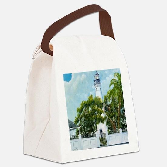 Key West Light square copy Canvas Lunch Bag