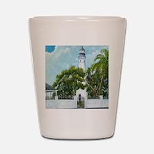 Key West Light square copy Shot Glass
