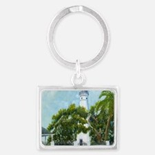 Key West Light square copy Landscape Keychain