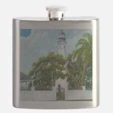 Key West Light square copy Flask