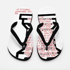Spartan Cheer Flip Flops