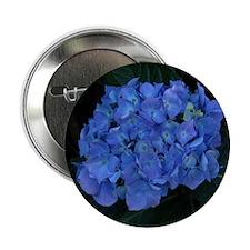 "Blue Hydrangea 2.25"" Button"