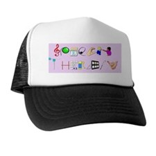 st purple rect Trucker Hat