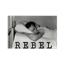 Retro Rebel Rectangle Magnet