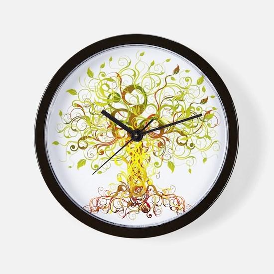 Tree Art Wall Clock