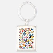 Butterflies Portrait Keychain
