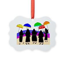 Nuns With Umbrellas Ornament
