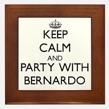 Keep Calm and Party with Bernardo Framed Tile