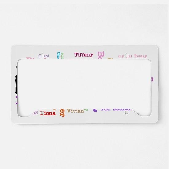 girls-names License Plate Holder