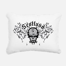 Scotland-Skull-and-Pipes Rectangular Canvas Pillow