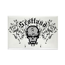 Scotland-Skull-and-Pipes-2009-blk Rectangle Magnet