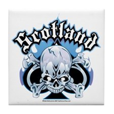 Scotland-Skull Tile Coaster