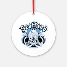 Scotland-Skull Round Ornament