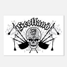 Scotland-Skull-and-Pipes- Postcards (Package of 8)