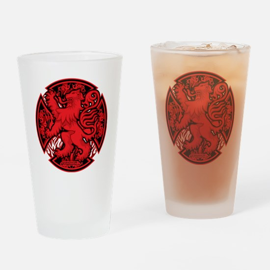 Scottish-Red-Cross Drinking Glass