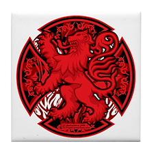 Scottish-Red-Cross Tile Coaster