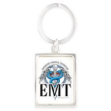 EMT-Caduceus-Blue Portrait Keychain
