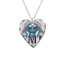EMT-Caduceus-Blue Necklace
