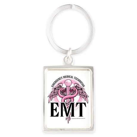 EMT-Pink-Caduceus Portrait Keychain