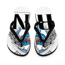 RN-Caduceus-BLue Flip Flops
