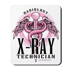 X-Ray-Tech-Pink-Caduceus Mousepad