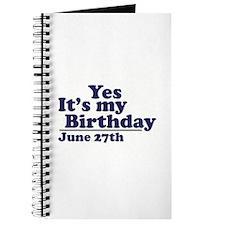 June 27 Birthday Journal