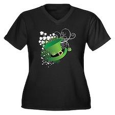 stpatrick Women's Plus Size Dark V-Neck T-Shirt