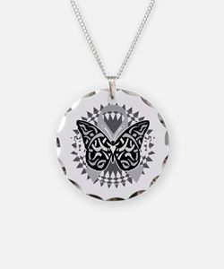 Brain-Cancer-Butterfly-Triba Necklace Circle Charm