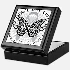 Brain-Cancer-Butterfly-Tribal Keepsake Box