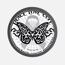 Brain-Cancer-Butterfly-Tribal Wall Clock