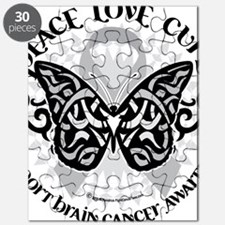 Brain-Cancer-Butterfly-Tribal Puzzle
