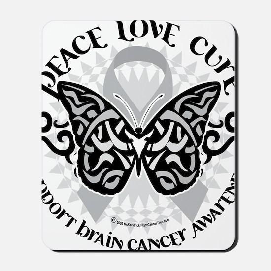 Brain-Cancer-Butterfly-Tribal Mousepad