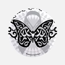 "Brain-Cancer-Butterfly-Tribal 3.5"" Button"