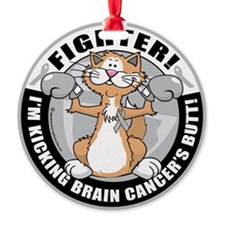 Brain-Cancer-Cat-Fighter Ornament