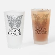 Brain-Cancer-Butterfly Drinking Glass