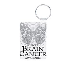 Brain-Cancer-Butterfly Keychains
