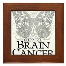 Brain-Cancer-Butterfly Framed Tile