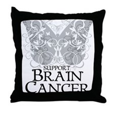 Brain-Cancer-Butterfly Throw Pillow
