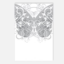 Brain-Cancer-Butterfly-bl Postcards (Package of 8)