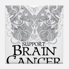Brain-Cancer-Butterfly Tile Coaster