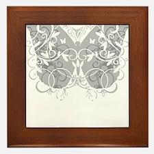 Brain-Cancer-Butterfly-blk Framed Tile